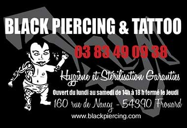 Black Piercing Tattoo